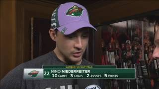 Niederreiter reacts after 5-4 overtime loss to Capitals