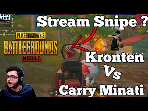 Kronten Killed Carry Minati Kronten Ne Stream Snipe Kiya Carry Vs Kronten best Pubg Highlight