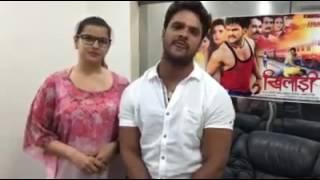 Khesari Lal Yadav & Madhu Sharma Interview II Khiladi II Promotion in Bihar