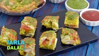 Cheese Masala Toast Sandwich by Tarla Dalal