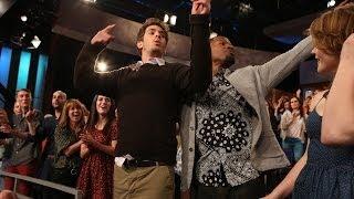 Exclusive! Jamie Foxx, Emma Stone and Andrew Garfield Get Down!