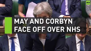 May and Corbyn face off over NHS