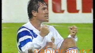 Mateut, hattrick in Real Zaragoza – BK Frem Copenhagen, 1992-93 Uefa Cup