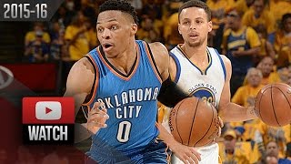 Stephen Curry vs Russell Westbrook Game 5 Duel Highlights 2016 WCF Warriors vs Thunder - EPIC!