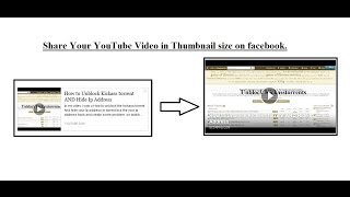 how to share video on fb with Thumbnail Size.