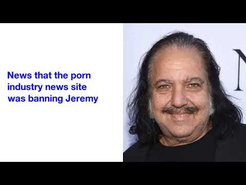 Ron Jeremy Banned From Porn Awards After Admitting He's A 'Groper'