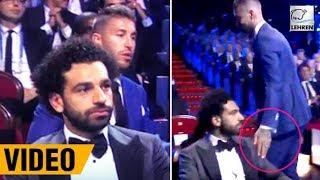 Sergio Ramos Awkwardly Sits Behind Mohamed Salah At The Champions League Draw