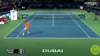 Roger Federer vs Novak Djokovic Highlights 2015 Dubai Final