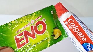 AWESOME ENO TOOTHPASTE Lifehacks Hand Beauty Skin Whitening Naturally To Get Instant Fair