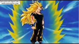 Goku becomes Super Saiyan 3 for the first time