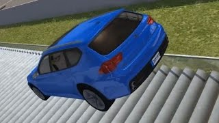 Car Jump Arena - Part 4 (Staircase Crashes) | BeamNG.drive