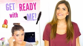 Get Ready With Me! How I Do My Makeup + Hair! Natural Glam Look
