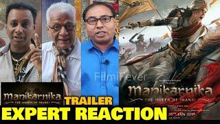 Manikarnika Movie Trailer   EXPERT REACTION   Kangana Ranaut, Ankita Lokhande