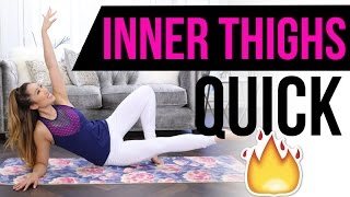 Quick Burn INNER THIGH Workout! Best Pilates Exercises for Lean & Toned legs!