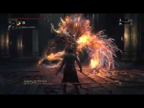 bloodborne laurence the first vicar easy kill simon s bowblade