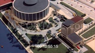 1950s ENGINEERING AND ARCHITECTURE IN DOMED BUILDING Stock Footage HD