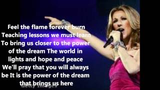 Celine dion power of a dream Lyrics