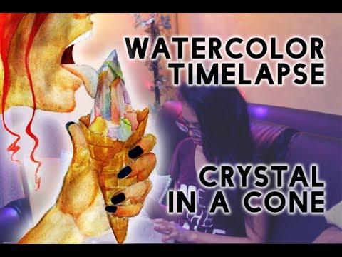 Xxx Mp4 A E S T H E T I C Watercolor Timelapse CRYSTAL CONE 3gp Sex