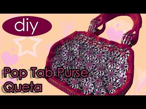 How to crochet a handbag with soda can tabs Queta Purse part 1