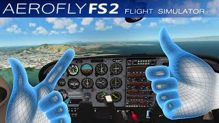 FLY WITH VR HANDS! | Aerofly FS 2 Flight Simulator Update: VR Controller Support
