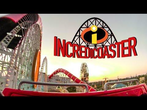 Incredicoaster FULL ON RIDE Front Seat POV - Pixar Pier Disney California Adventure