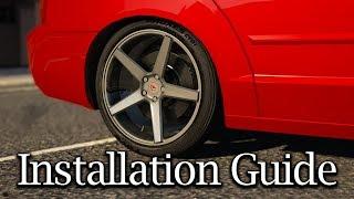 GTA V Mods | Installation Guide | HQ B-Rims Pack #1