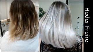 Ombre Hair - Loiro Platinado - Heder Freire
