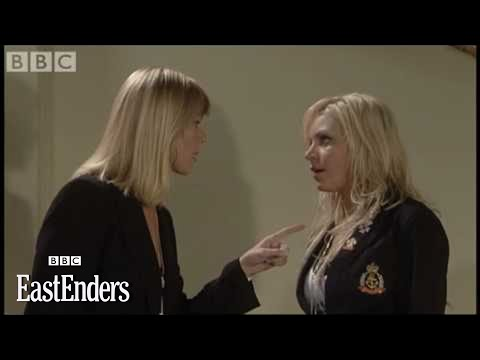 Ronnie & Roxy Mitchell cat fight EastEnders BBC
