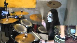 Slipknot - Psychosocial Drum Cover with Joey Jordison Mask drum play-through