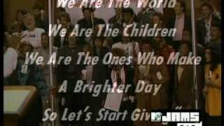 We are the world - Micheal Jackson and Lionel Richie [USA for Afrika] Top Quality   {with names}