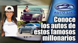 Conoce los autos de estos famosos millonarios