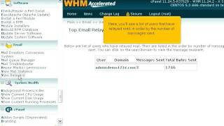 How to view the top e-mail relayers on your server in WHM