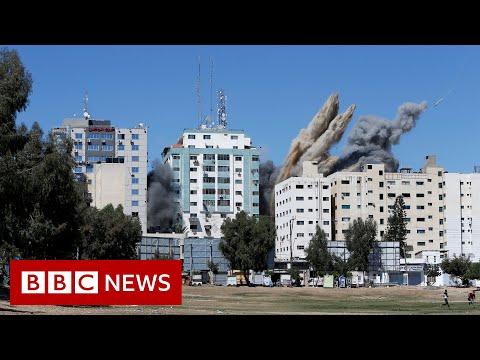 Israel destroys Gaza tower housing foreign media BBC News