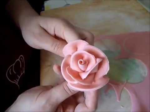 How to make sugar paste roses easy and fast by ItalianCakes