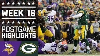 Vikings vs. Packers | NFL Week 16 Game Highlights