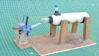 How to Make Steam Power Generator - a Cool Science Project With Easy Way | Simple Steam Engine Home