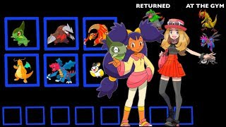 Every Pokemon owned by Iris & Serena