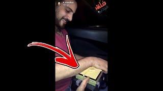 سعودي مسوي هدية لخويه المصري || شوفوا وش اللي بداخل الهدية 😳🤣
