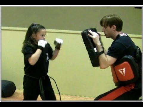 10-Year-Old Girl Kickboxer