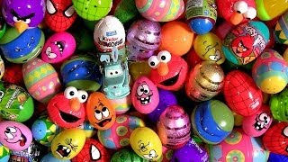 150 Giant Surprise Eggs Kinder CARS StarWars Marvel Avengers LEGO Disney Pixar Nickelodeon Peppa