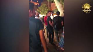"""SHIRAZ, Iran, Aug. 4, 2018. Protesters chanting: """"DEATH TO THE DICTATOR"""""""