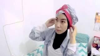 Shellybe -3 : Tutorial Hijab Turban with ribbon