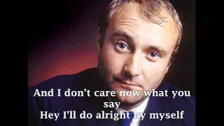 Phil Collins  I Dont Care Anymore  With Lyrics