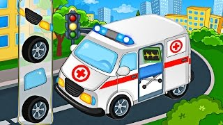 Cars and Trucks : Street Vehicles videos for kids - Puzzle Cars for Kids