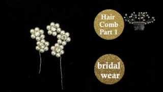 {THERESA} Daisy Spray Part2of2: DIY Bridal Beaded Hair Comb