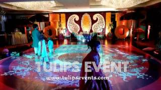 creative mehndi dance floor by tulips events in Pakistan
