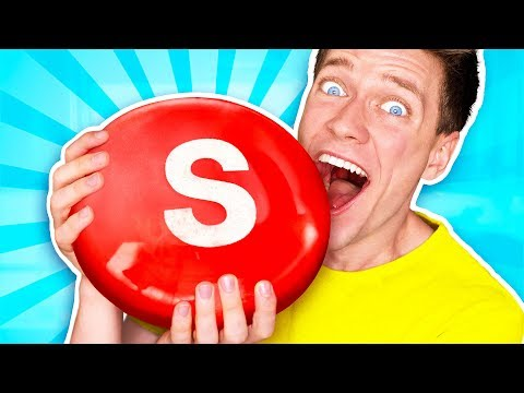 Sourest Giant Candy Challenge DIY Worlds Biggest Skittles Learn How To Prank Sour vs Edible Food