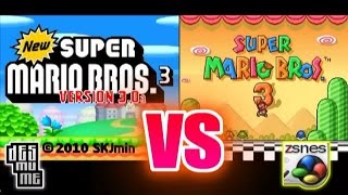 New Super Mario Bros 3 Vs Super Mario Bros 3 (DS vs SNES)