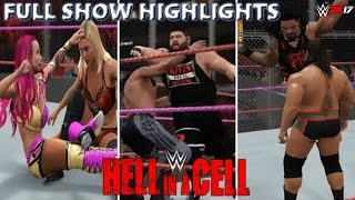 WWE 2K17 HELL IN A CELL 2016 FULL SHOW - PREDICTION HIGHLIGHTS