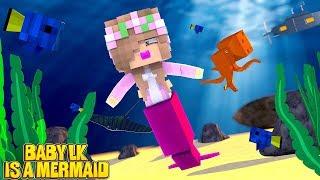 BABY LITTLE KELLY IS A MERMAID!   Minecraft Little Kelly